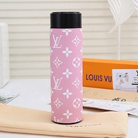 LV Louis Vuitton Intelligent Digital Display Water Cup Temperature Measuring Thermos 304 Stainless Steel Male And Female Filter Tea Cup Thermos Colorful