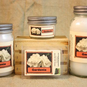 Gardenia Candle,  Scented Candles and Wax Melt, Flower Scent Candle, Highly Scented Candles and Wax Tarts, True Gardenia Scent, Gift for Mom