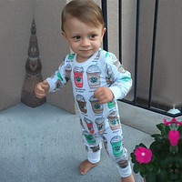 Coffee Starbucks Frappuccino Baby Romper Outfit