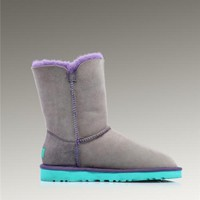 UGG Bailey Button 5803 Boots Grey and Purple