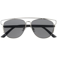Modern Fashion Full Metal Crossbar Technologic Flat Lens Aviator Sunglasses 54mm
