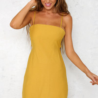 Road Tripping Dress Mustard