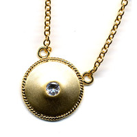 Golden Shield Necklace