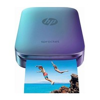 HP - Sprocket Photo Printer - Blue