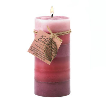Relaxation Aroma Pillar Candle 3x6