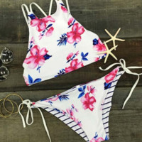 Floral Print Bikini Bandage Swimsuit Bathing Suit