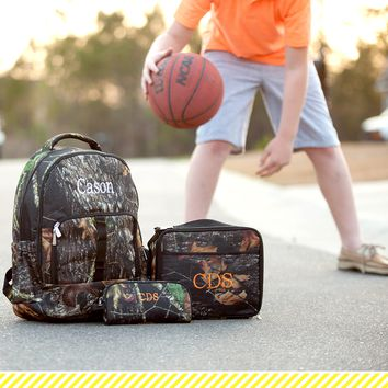 Woods Camo Backpack Set
