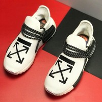 Adidas X Off White Fashion Women Men Casual Sport Running Shoes Sneakers White