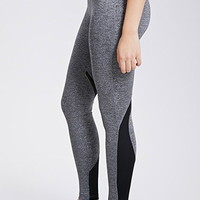 Mesh-Paneled Athletic Leggings
