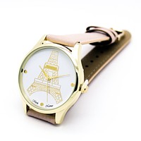 Eiffel Tower strap watch (2 colors)