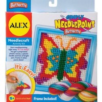 Alex Toys Simply Needlepoint Kits, 6-1/2-Inch by 6-1/2-Inch, Butterfly   AihaZone Store