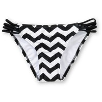 Malibu Zig Zag Chevron Side Strap Bikini Bottom
