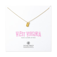 west virginia necklace, gold dipped - Dogeared