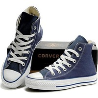 """Converse"" Fashion Casual Running Canvas Flats Sneakers Sport Shoes Navy blue G"