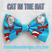Dr. Suess Cat in The Hat Bow