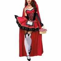 Little Red Riding Hood Embroidery Fancy Dress