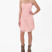 Women's Spaghetti Strap Dress in Pink by Daytrip.