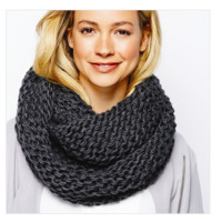 Knit Infinity Scarf   3 Colors