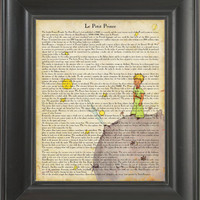 The Little Prince -  Printed on The Little Prince  page  -  250Gram paper.