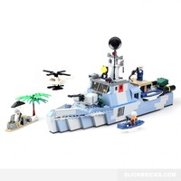 Corvette Class Warship - Lego Compatible Toy