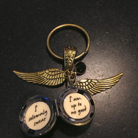 Harry Potter Golden Snitch Solemnly Swear Keychain Steampunk Key Chain