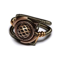Steampunk Jewelry  RING  Copper by CatherinetteRings on Etsy
