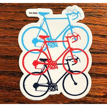 We Bike - All weather vinyl sticker