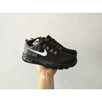 """""""Nike Air Max"""" Men Sport Casual Multicolor Flyknit Air Cushion Running Shoes Fashion Sneakers"""