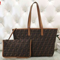 FENDI Fashion Women Shopping Bag Handbag Tote Satchel Shoulder Bag Two-Pece
