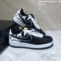 DCCK N951 Nike Air Force 1 AF1 Low Fashion Urban Preppy Casual Skate Shoes White Black Yellow