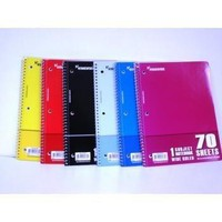 *CHARTA WIREBOUND NOTE BOOK - 70 SHEETS - ONE SUBJECT