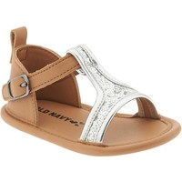 Old Navy Glitter Strap Sandals For Baby