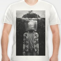 This TV haze sucks me through. I watch the world from the inside T-shirt by James Docherty   Society6