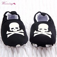 0-12M Toddler Baby Skull Pirate Printed Casual Shoes Soft Bottom Girl Boys Shoes New Sales