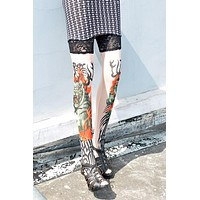 Tiger of Fire Tattoo Stockings