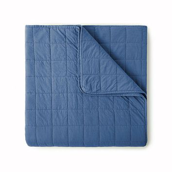 4 Square Denim Coverlet by Peacock Alley