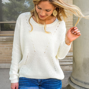 Back To School Open Knit Sweater