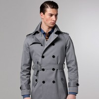 THE EXCURSIONIST GRAY TRENCHCOAT