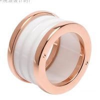 Black and white ceramic plated titanium steel Roman thread ring ring for lady lovers
