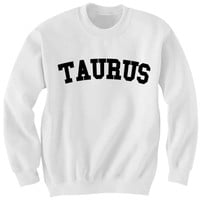 TAURUS SWEATSHIRT TEAM TAURUS SHIRT ZODIAC SIGN SHIRTS COOL SHIRTS HIPSTER CLOTHES GIFTS FOR TEENS BIRTHDAY GIFTS CHRISTMAS A from CELEBRITY COTTON