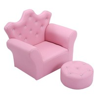 Costway Pink Kids Sofa Armrest Chair Couch Children Toddler Birthday Gift w/ Ottoman - Walmart.com