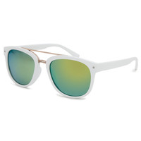 Full Tilt Round Sunglasses White One Size For Women 25377415001