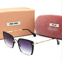 Miu Miu Fashion Women Sun Shades Eyeglasses Glasses Sunglasses Purple/Black Frame I12777-1