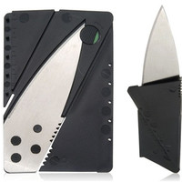 Card Shaped Outdoor Foldable Knife (Silver)