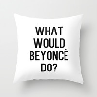 Yonce Throw Pillow by Liv B