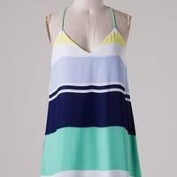 Out of the Blue Dress - Mint and Yellow