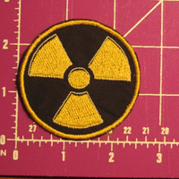 Glow thread traced Radiation Symbol Patch