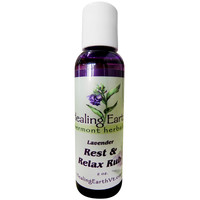 Healing Earth Vermont Herbals Rest & Relax Rub, Health & Relaxation, 2 oz.