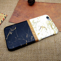 Patchwork Marble Stone iPhone 7 7 Plus & iPhone 5s se & iPhone 6 6s Plus Case Personal Tailor Cover + Gift Box