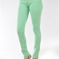 What I Almost Was Skinny Jeans - Mint